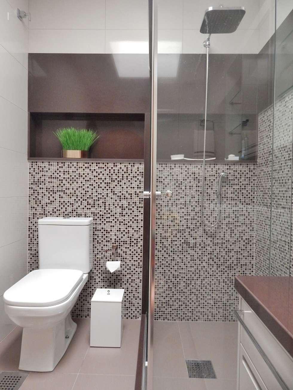 BANHO AB – Higienópolis / Porto Alegre: Banheiros ecléticos por Ambientta Arquitetura