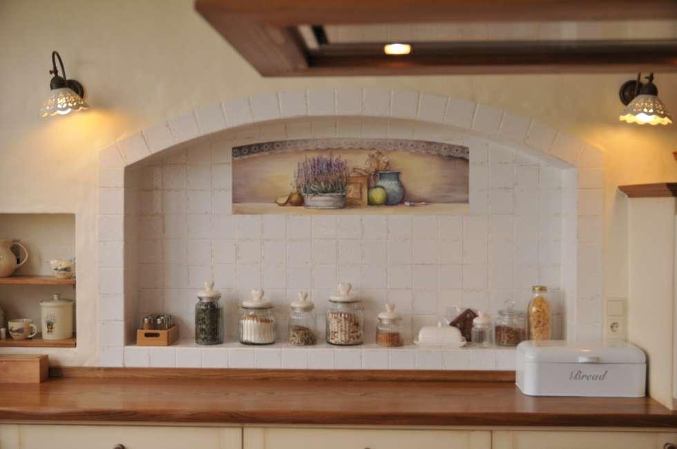 Zabudowa kuchni : styl , w kategorii Kuchnia zaprojektowany przez 'Rustykalnia'  Sztuka Wnętrza