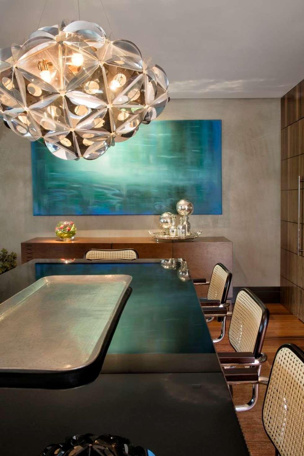 Projeto Casa Moderna - Jorge Elmor: Salas de jantar modernas por Elmor Arquitetura