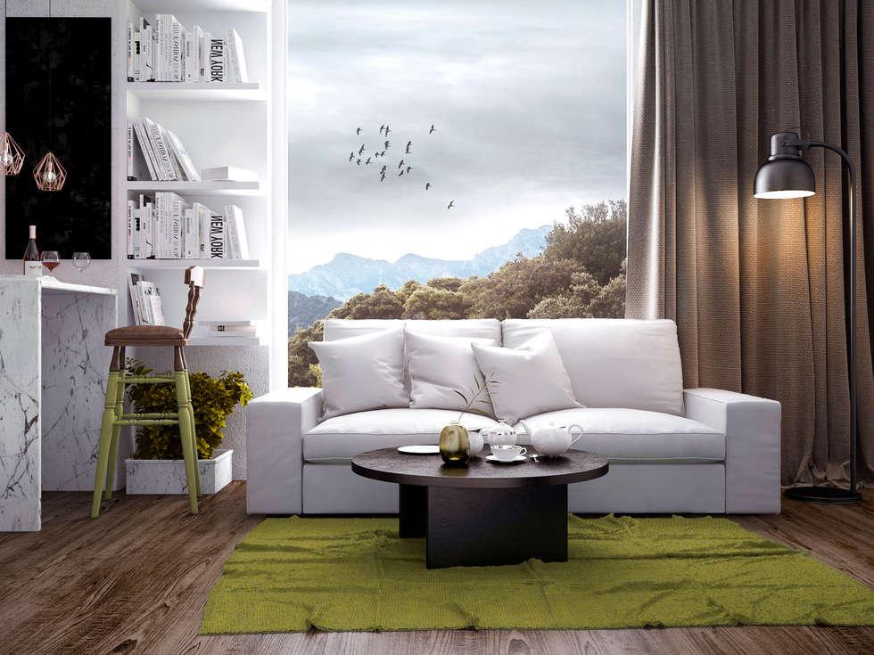 Living room: Гостиная в . Автор – PRO-DESIGN