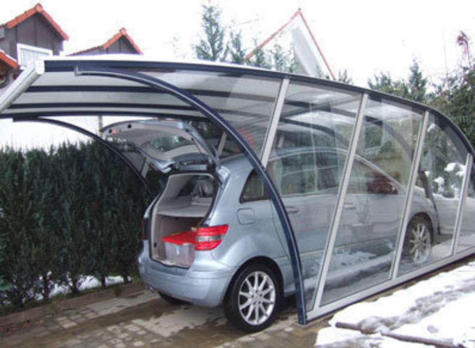 france abris abri voiture design garage hangar de style de style moderne par france abris. Black Bedroom Furniture Sets. Home Design Ideas