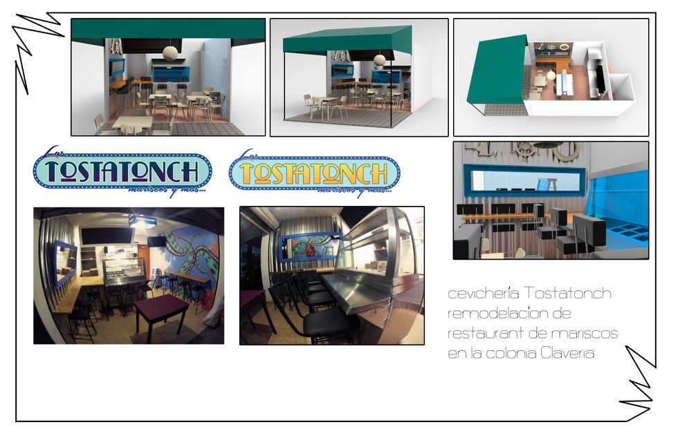 collage : Restaurantes de estilo  por Armatoste studio