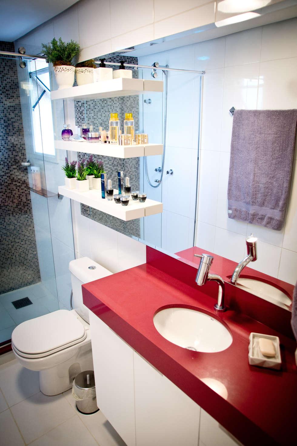 Banheiro suíte: Banheiros modernos por INOVA Arquitetura