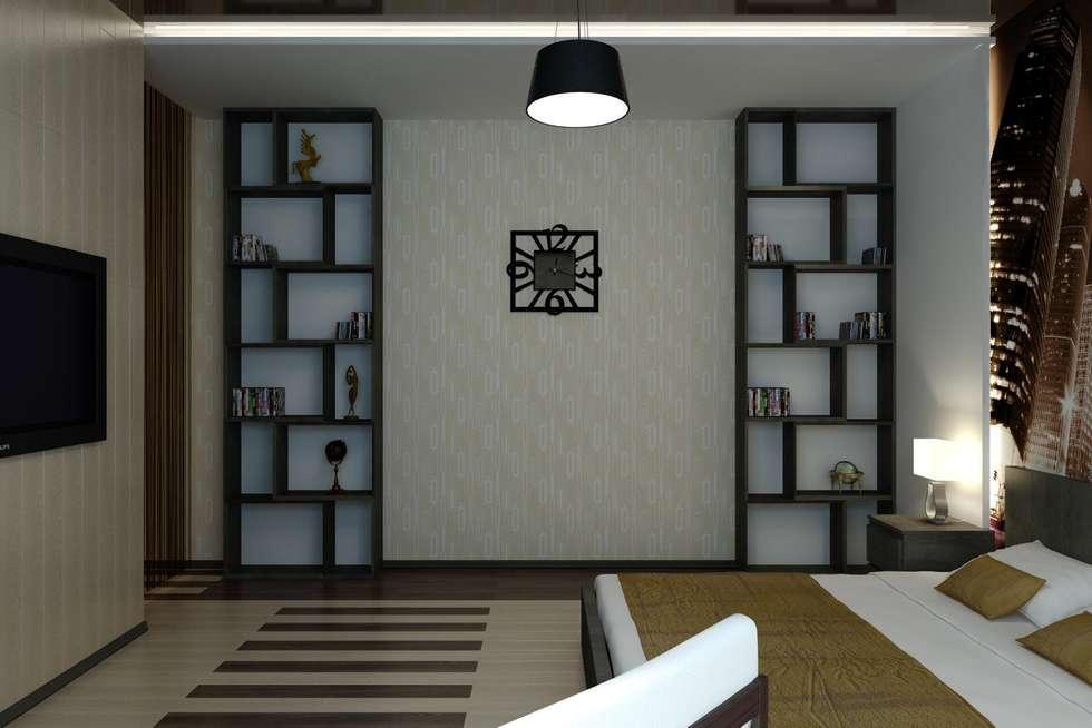 Интерьер с мебелью из IKEA.: Спальни в . Автор – Дизайн студия 'Exmod' Павел Цунев