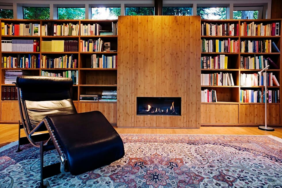Garden House B.: moderne Studeerkamer/kantoor door Atelier 010