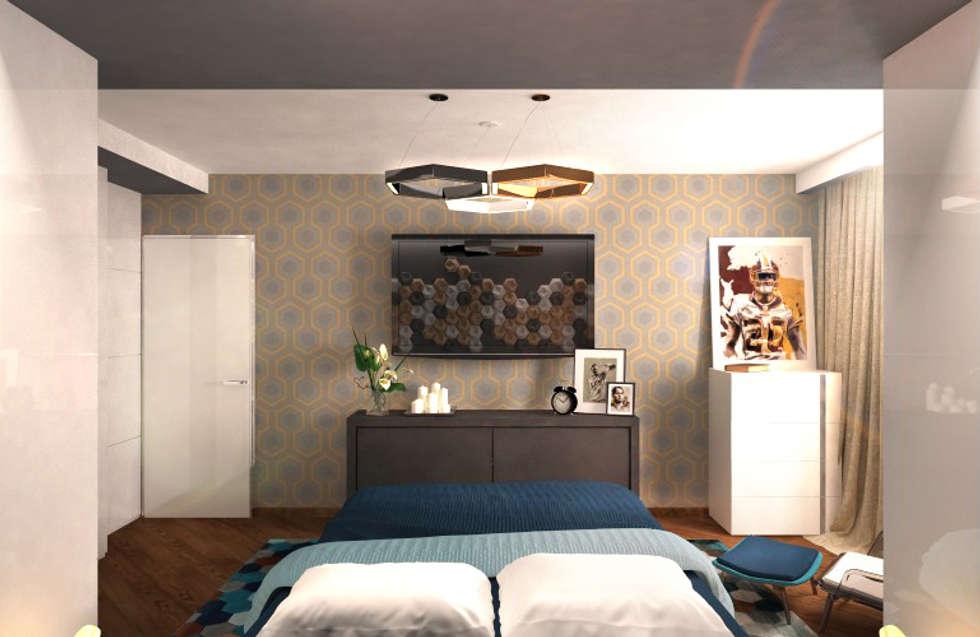 Спальня 3: Спальни в . Автор – Inna Katyrina & 'A-LITTLE-GREEN' studio interiors