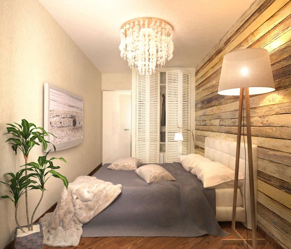 Гостевая спальня 2: Спальни в . Автор – Inna Katyrina & 'A-LITTLE-GREEN' studio interiors