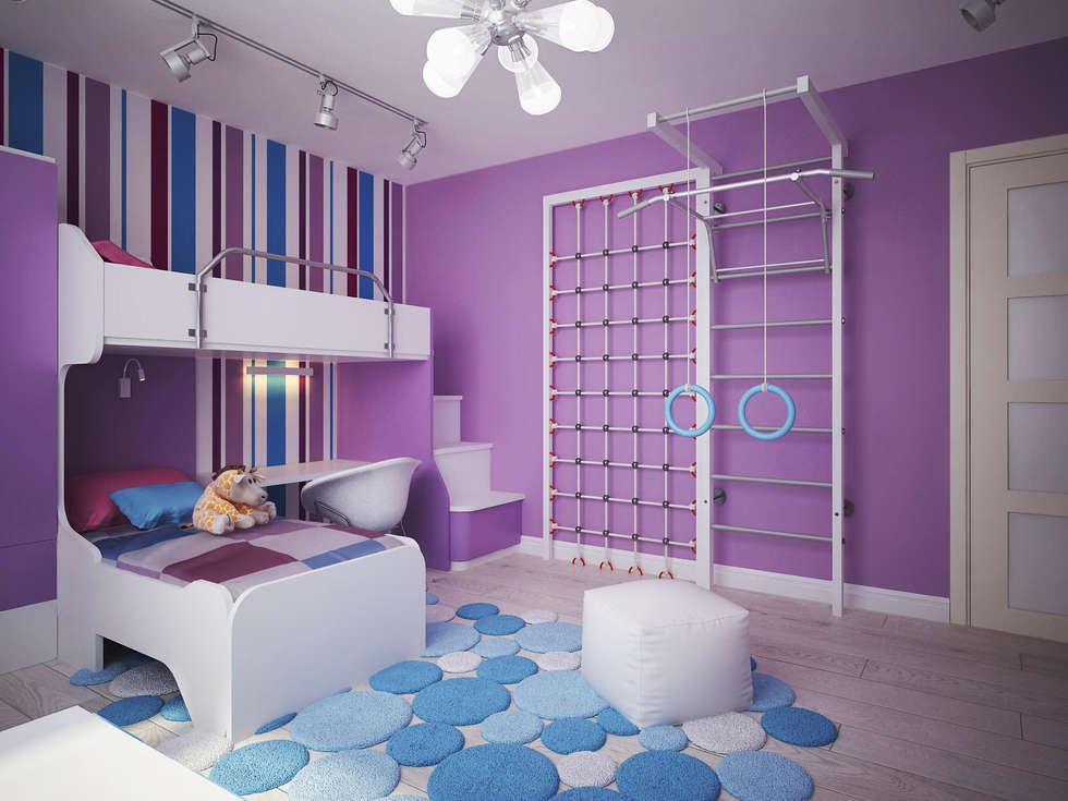 minimalistische Kinderkamer door Polovets & Tymoshenko design studio