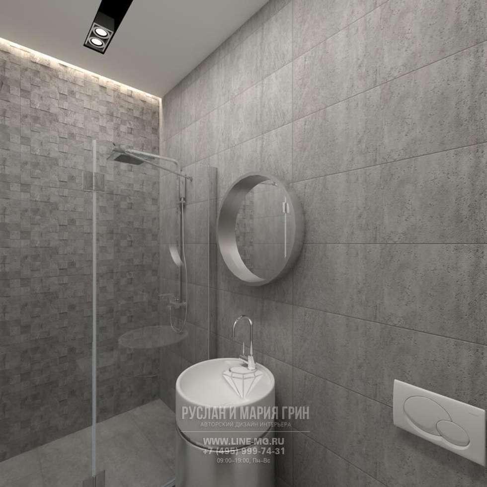 Фото интерьера санузла в стиле лофт: Ванные комнаты в . Автор – Студия дизайна интерьера Руслана и Марии Грин