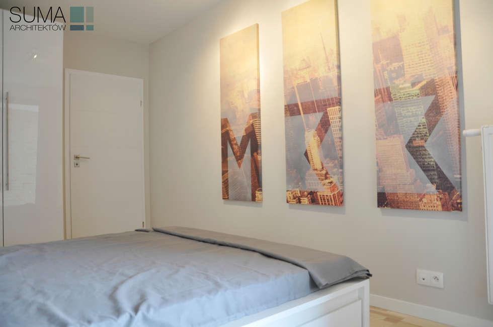 M33_RENT_ONE: styl , w kategorii Sypialnia zaprojektowany przez SUMA Architektów