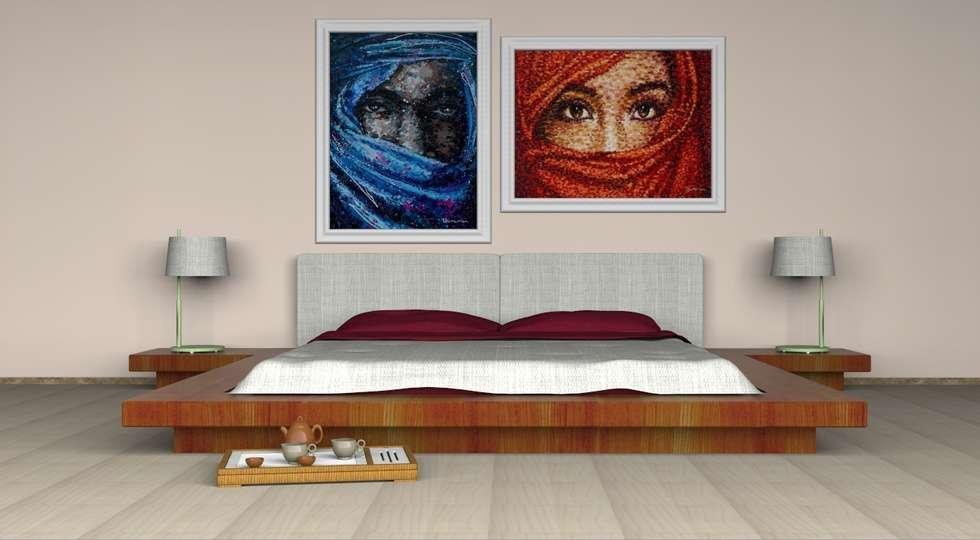 Bedroom BY GCDesign: Camera da letto in stile in stile Eclettico di Giovanni Cardinale Designer