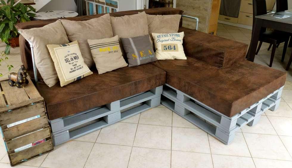 canap d 39 angle palettes style indus bord de mer salon. Black Bedroom Furniture Sets. Home Design Ideas