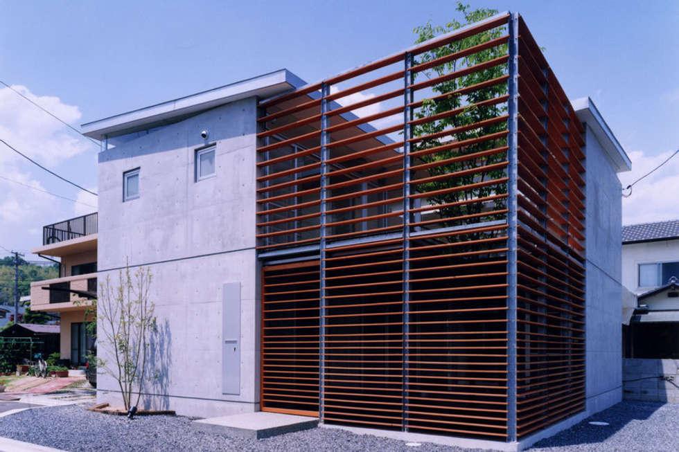 コートハウス2の外観: 土居建築工房が手掛けた家です。