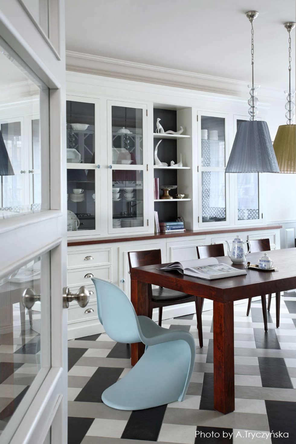 Kuchnia połączona z jadalnią: styl , w kategorii Jadalnia zaprojektowany przez MG Interior Studio Michał Głuszak