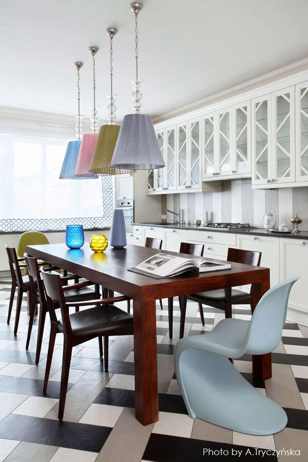 Kuchnia połączona z jadalnią: styl , w kategorii Kuchnia zaprojektowany przez MG Interior Studio Michał Głuszak