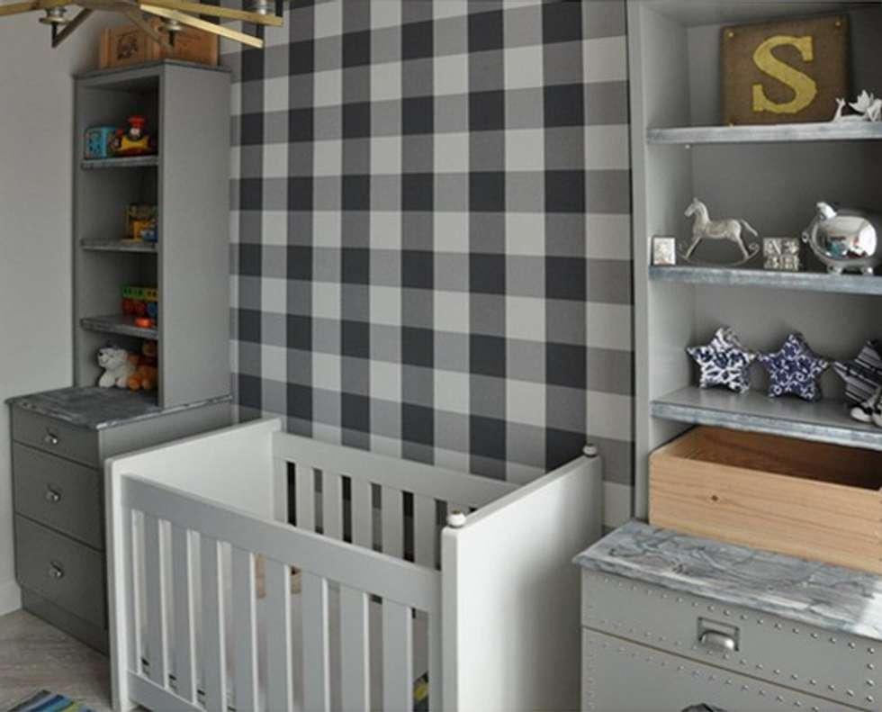 Szare wnętrze pokoju chłopca: styl , w kategorii Pokój dziecięcy zaprojektowany przez MG Interior Studio Michał Głuszak