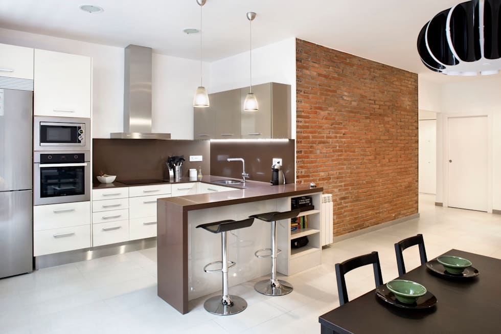 Projekty,  Kuchnia zaprojektowane przez GPA Gestión de Proyectos Arquitectónicos  ]gpa[®