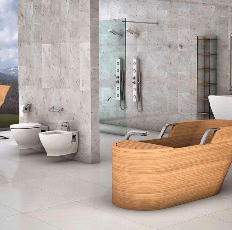 Plaza Yapı Malzemeleri – İtalyan Banyo Ürünleri: endüstriyel tarz tarz Banyo