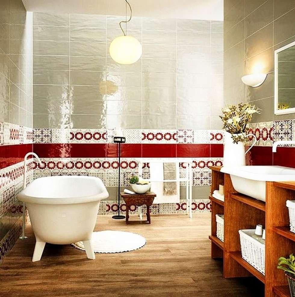 Plaza Yapı Malzemeleri – Dekor İtalyan Seramik: eklektik tarz tarz Banyo