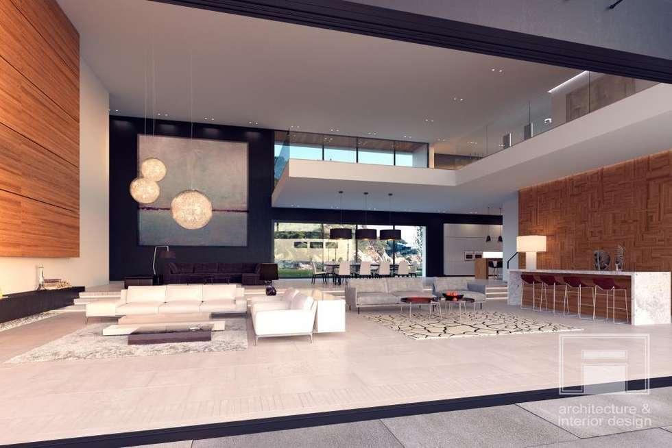 Море Вокруг. Архитектурное решение + Интерьер дома (1000м2): Гостиная в . Автор –  i-project