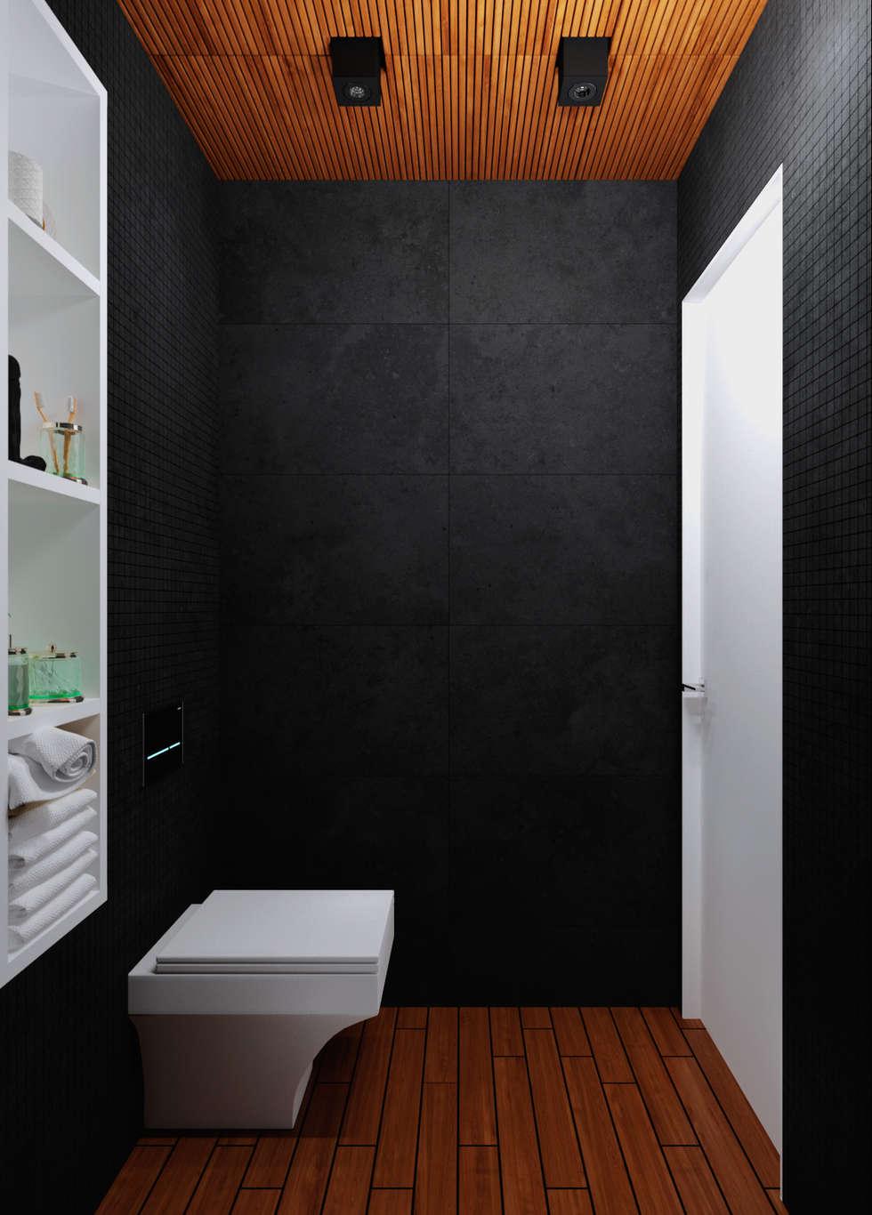 Туалет: Ванные комнаты в . Автор – 3D GROUP