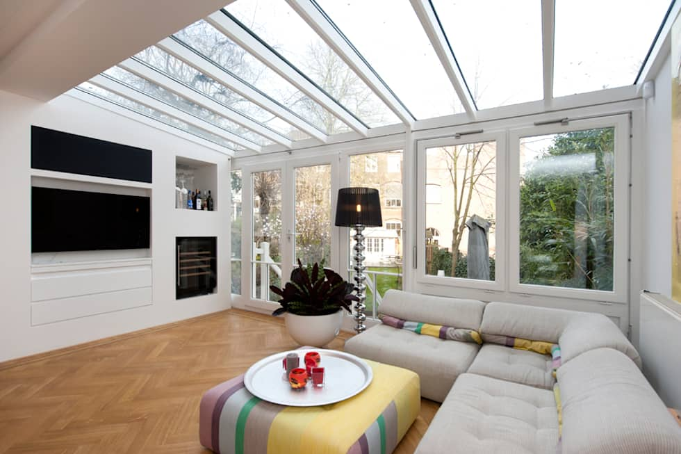 Modern interieur amsterdam oud-zuid: moderne woonkamer door het ...