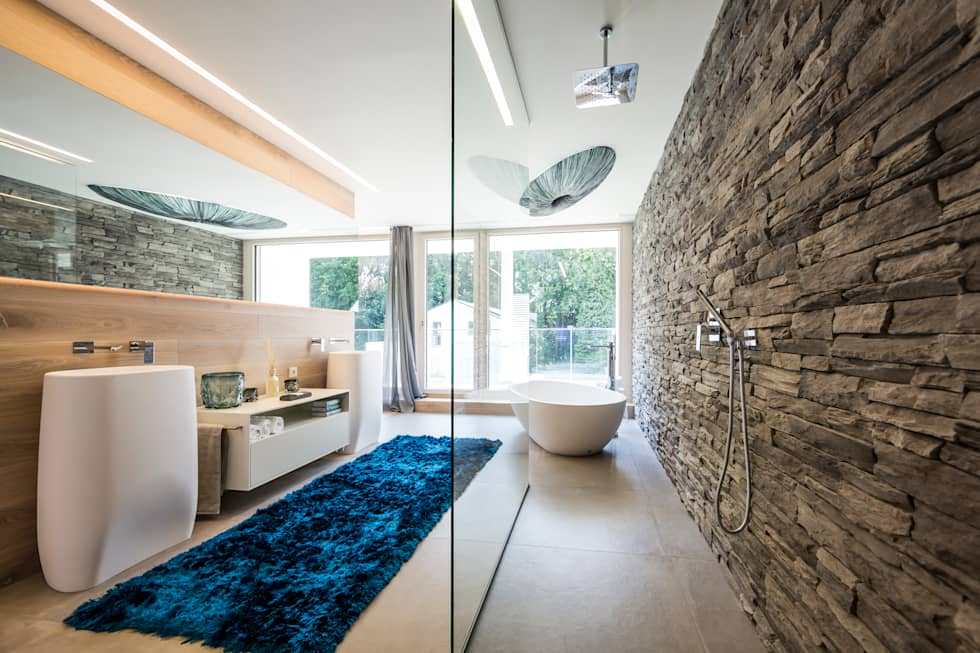 modern Bathroom by Die HausManufaktur GmbH