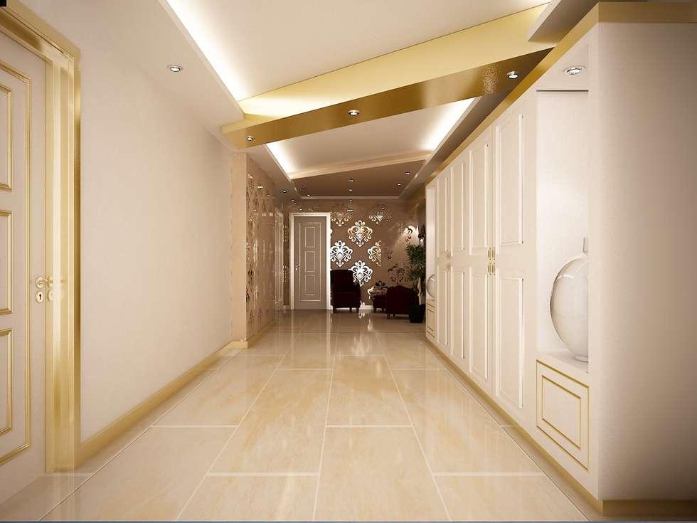 Sinar İç mimarlık – Giriş Holü: klasik tarz tarz Evler