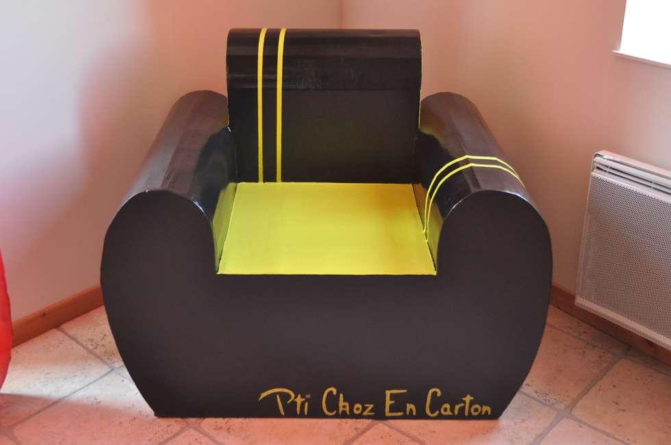 Fauteuil Club en Carton: Art de style  par Pti Choz En Carton