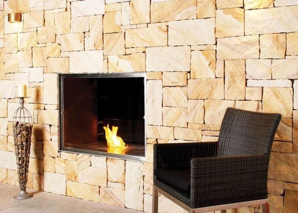 Eco Smart Fire 900SS elegancki wkład do zabudowy: styl , w kategorii Salon zaprojektowany przez ilumia.pl