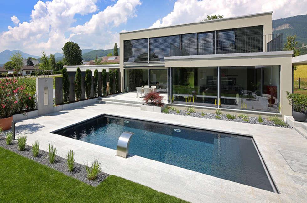 Ferien Zuhause Moderner Pool Von Unica Architektur AG