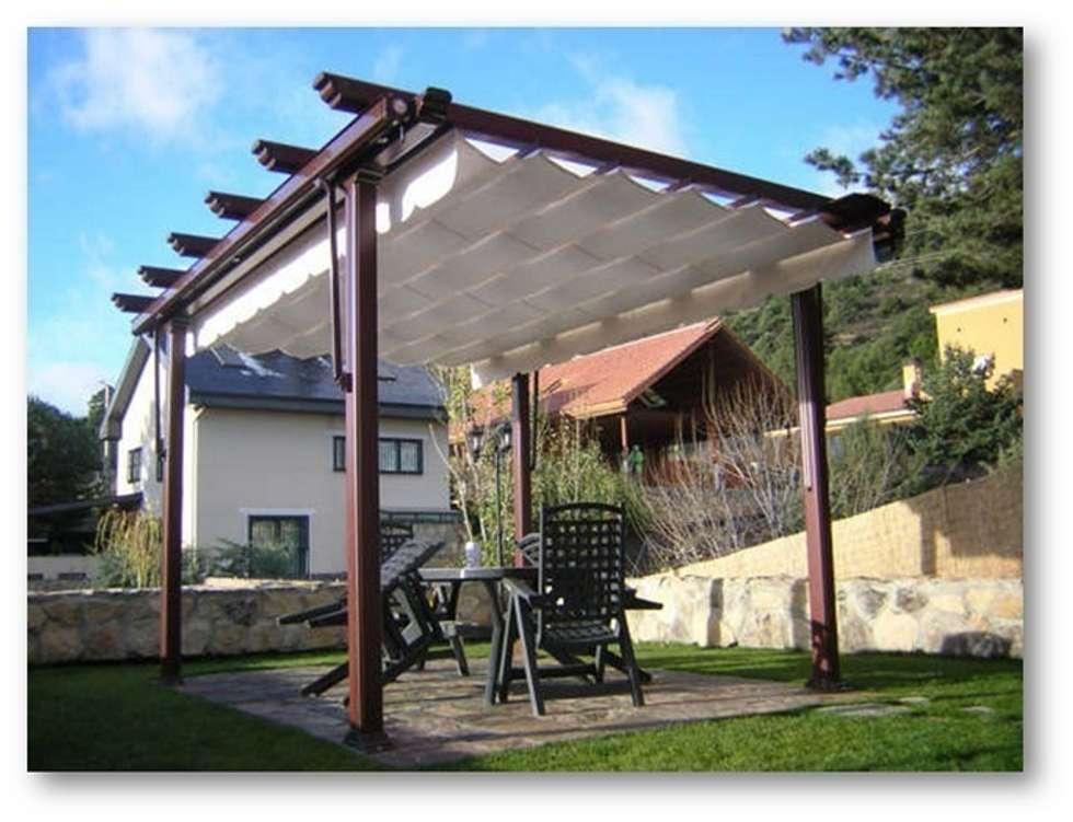 Fotos de jard n de estilo terrazas toldos y p rgolas - Toldos y pergolas para terrazas ...