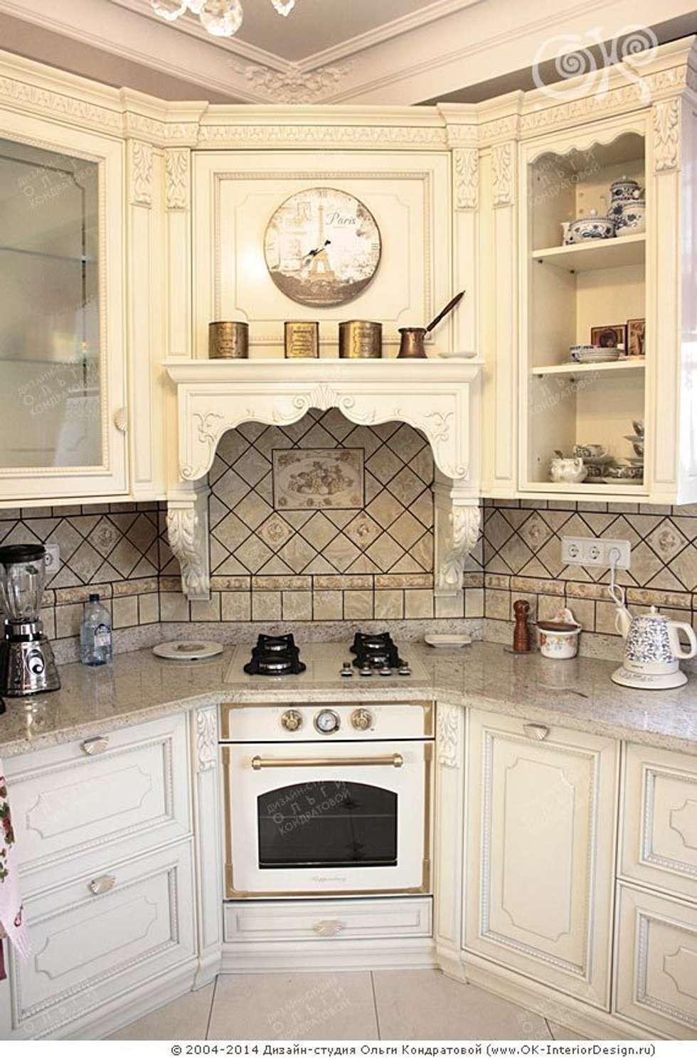 Интерьер кухни в дизайне дома : Кухни в . Автор – Дизайн студия Ольги Кондратовой