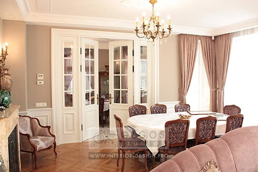Интерьер столовой в дизайне дома : Столовые комнаты в . Автор – Дизайн студия Ольги Кондратовой