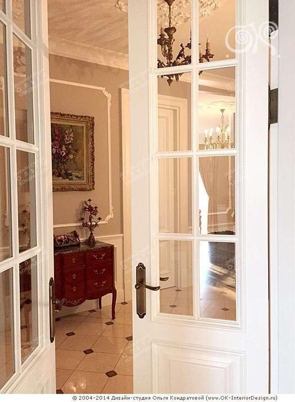 Классические двери в интерьере: Окна в . Автор – Дизайн студия Ольги Кондратовой