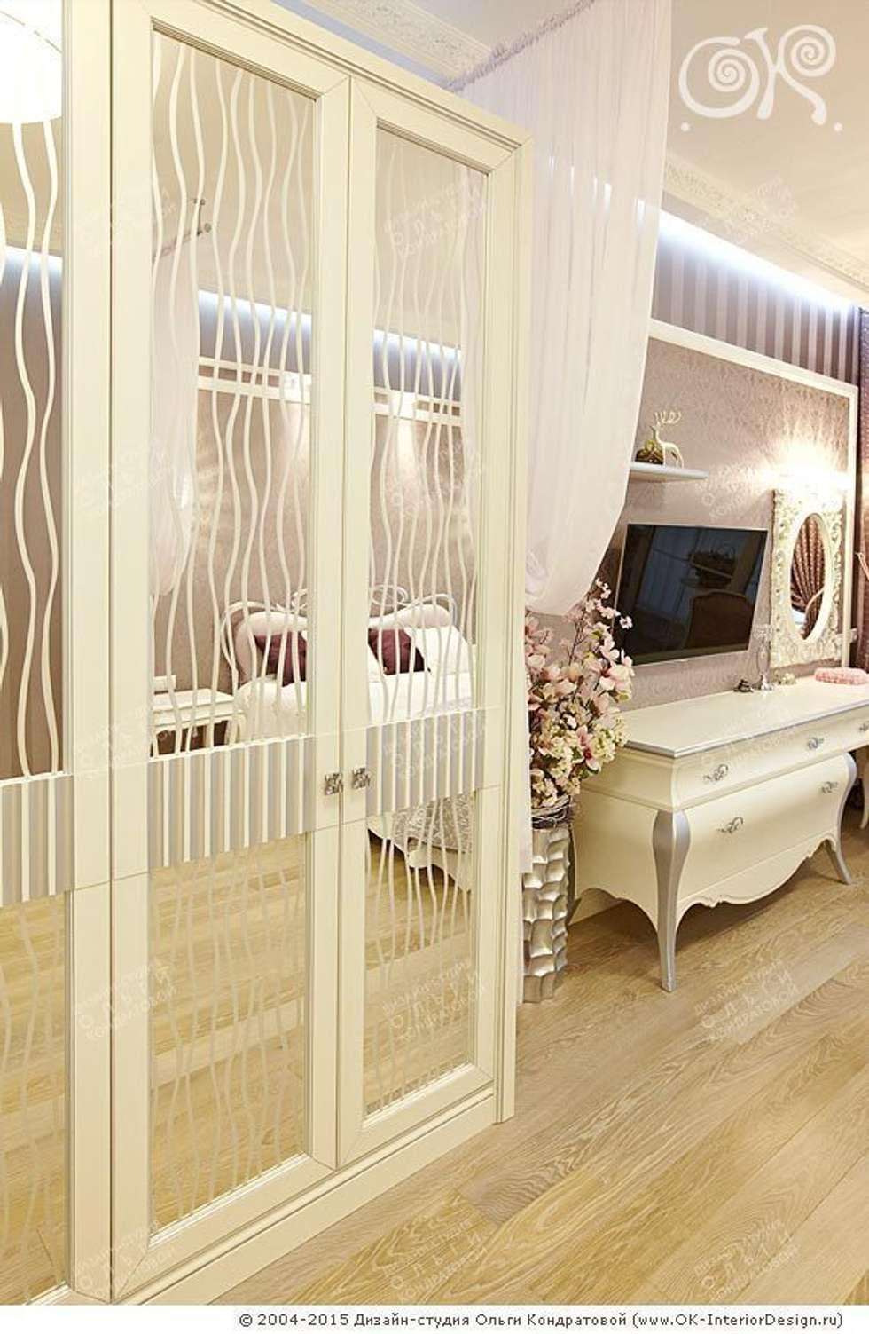 Интерьер спальни в квартире на Мытной: Спальни в . Автор – Дизайн студия Ольги Кондратовой