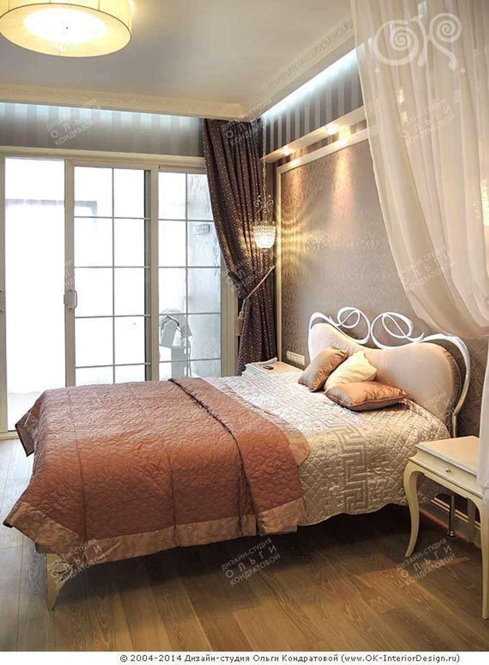 Интерьер спальни в квартире на Мытной: Столовые комнаты в . Автор – Дизайн студия Ольги Кондратовой