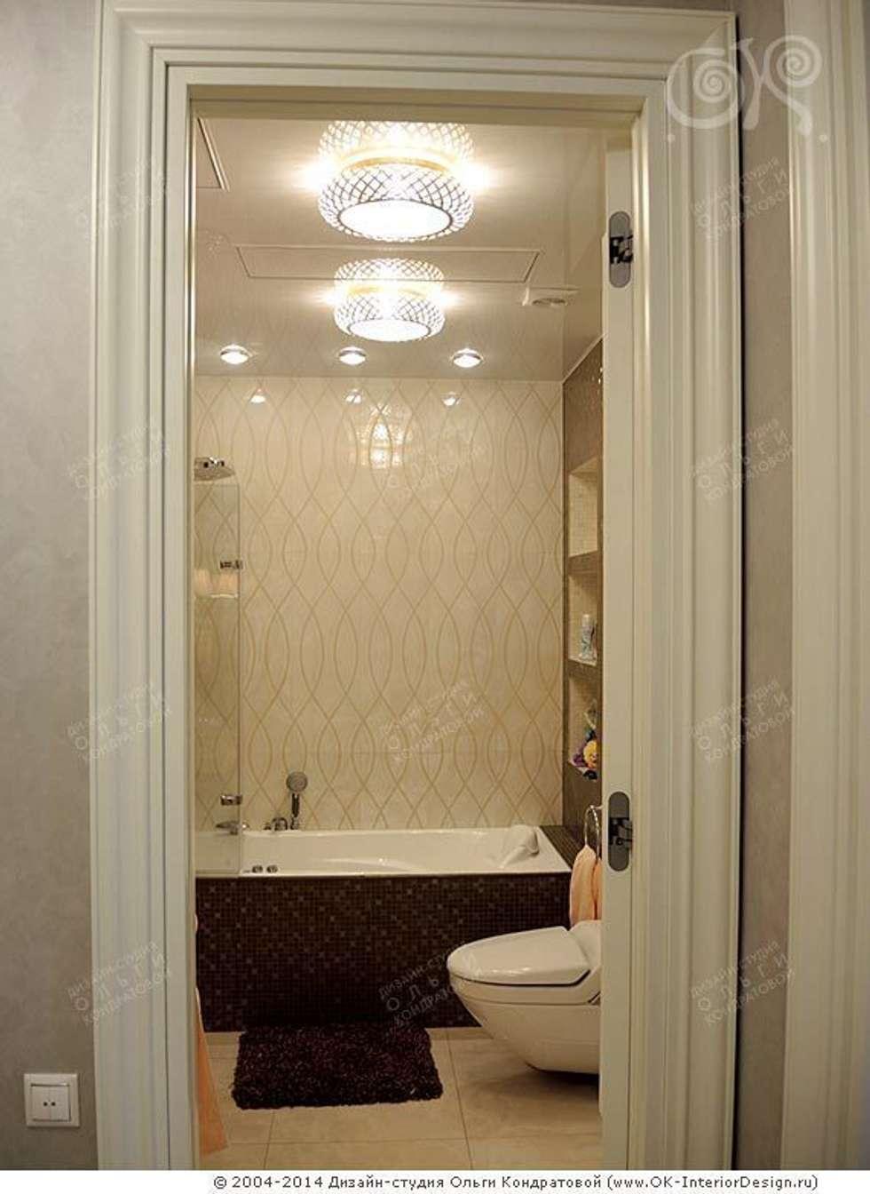 Интерьер ванной комнаты в квартире на Мытной: Ванные комнаты в . Автор – Дизайн студия Ольги Кондратовой