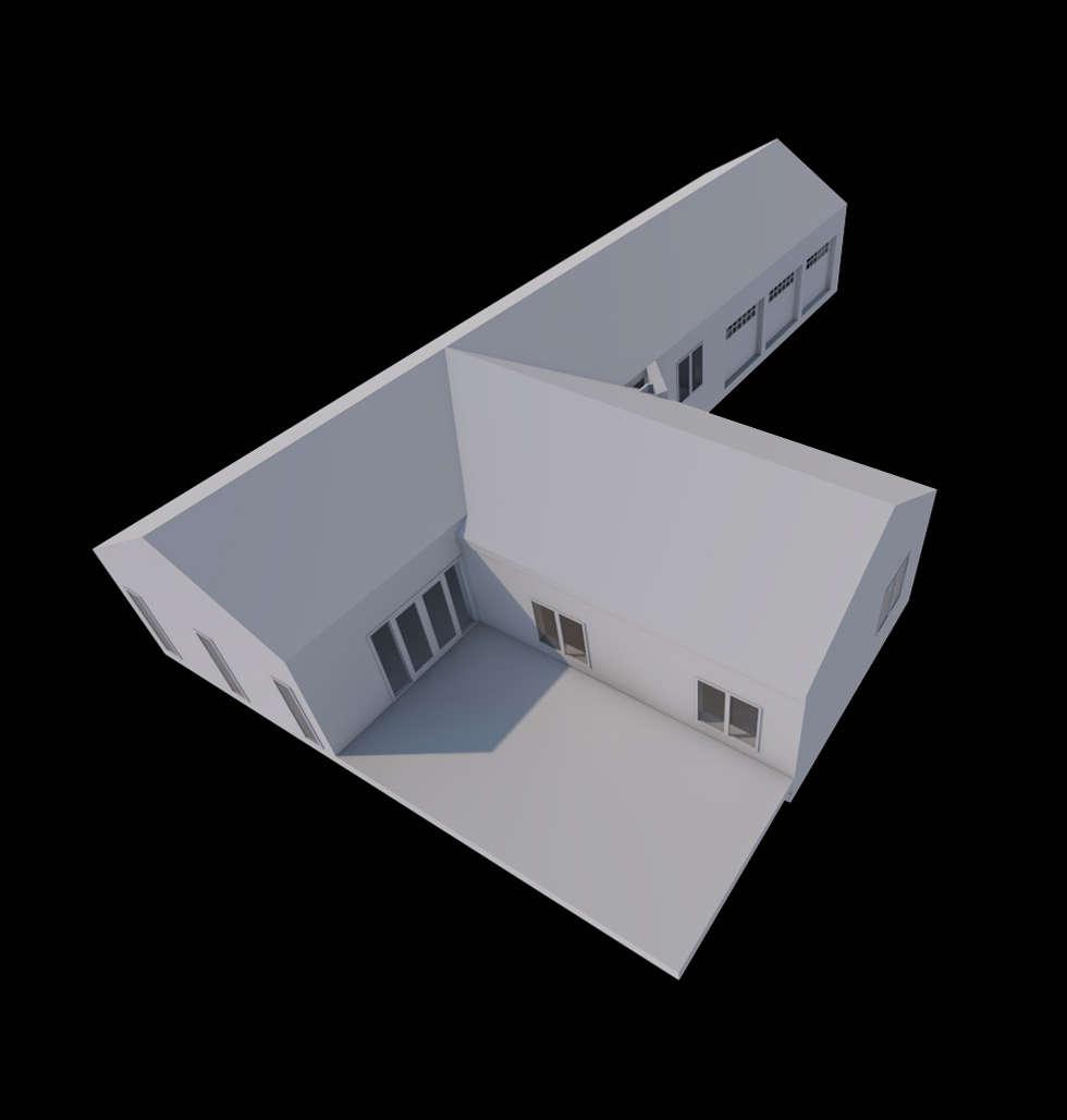 Maison à la campagne: Maisons de style de style Moderne par AeA - Architecture Eric Agro