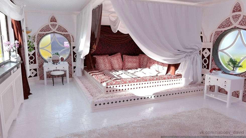 Постель: Спальни в . Автор – Nada-Design Студия дизайна.