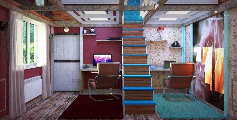 Рабочие зоны: Детские комнаты в . Автор – Nada-Design Студия дизайна.