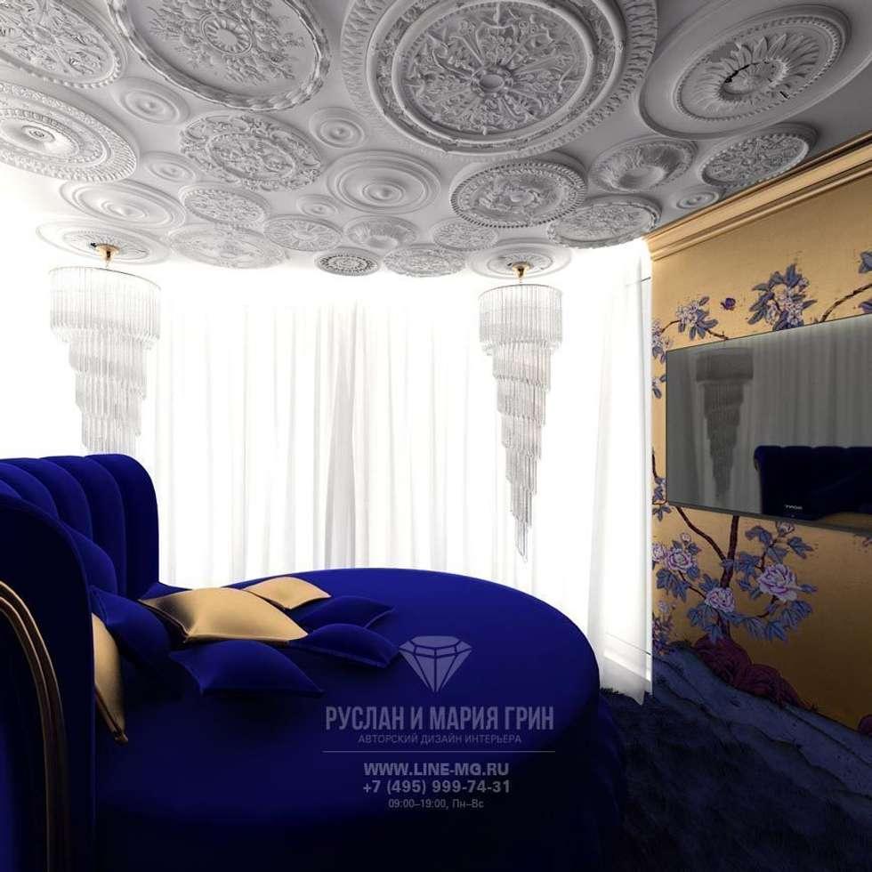 ИНТЕРЬЕР СПАЛЬНИ: Спальни в . Автор – Студия дизайна интерьера Руслана и Марии Грин