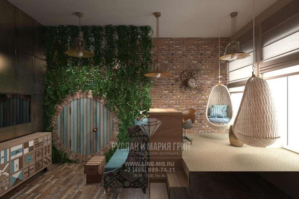 Детская комната, стилизованная под домик хоббита : Рабочие кабинеты в . Автор – Студия дизайна интерьера Руслана и Марии Грин