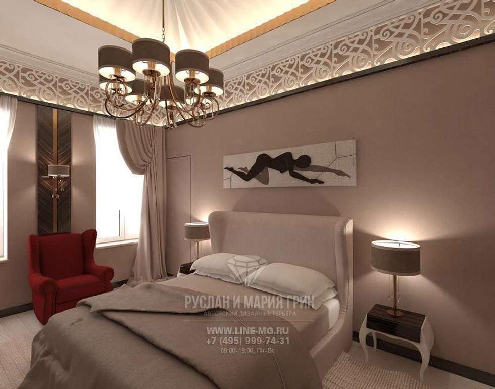 Интерьер спальни в современном стиле: Спальни в . Автор – Студия дизайна интерьера Руслана и Марии Грин