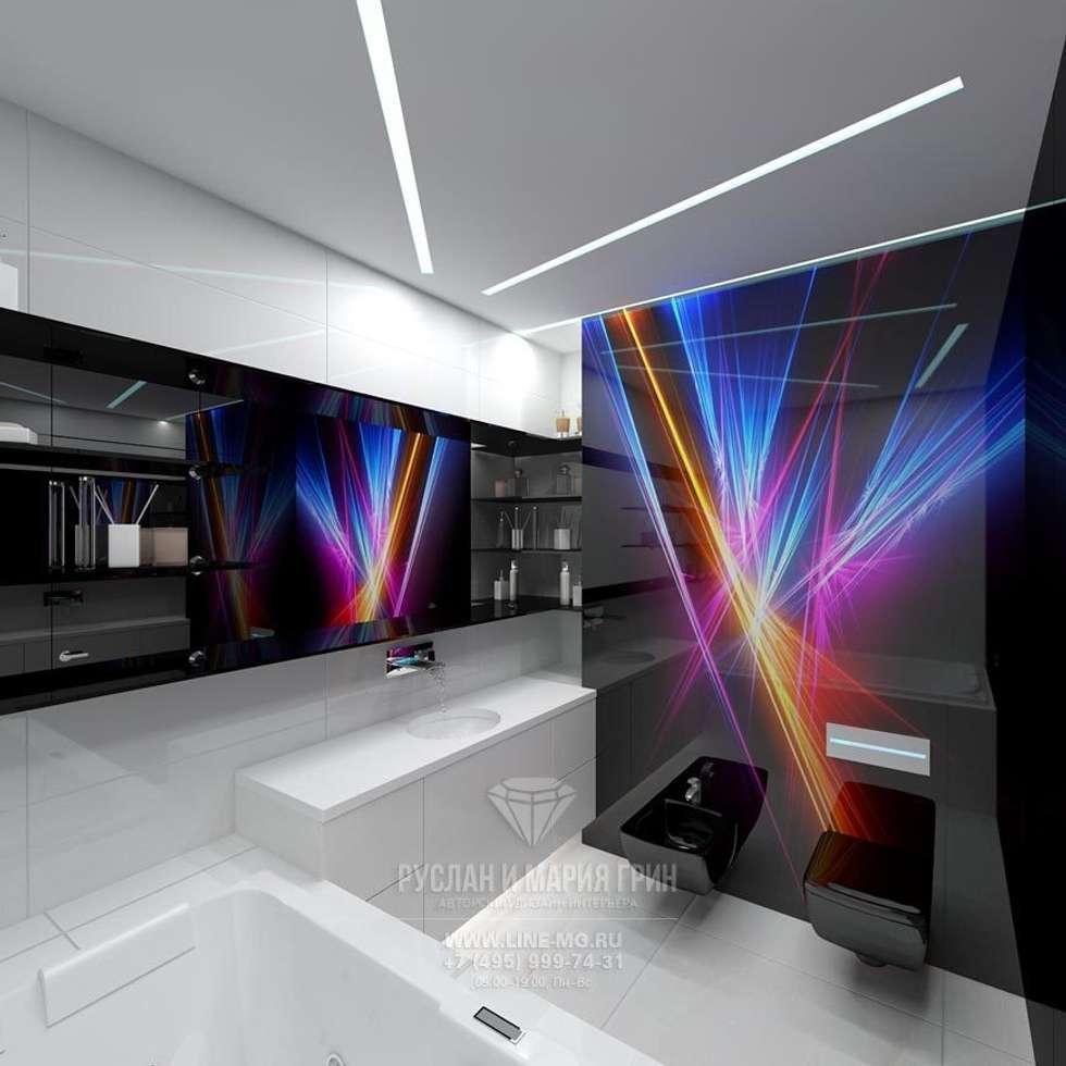 Интерьер ванной в футуристическом стиле: Ванные комнаты в . Автор – Студия дизайна интерьера Руслана и Марии Грин