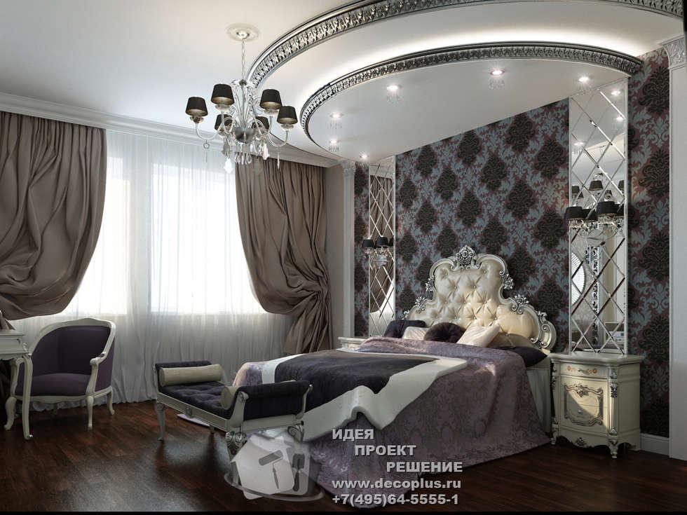 Спальня в стиле арт-деко, фото интерьера: Спальни в . Автор – Бюро домашних интерьеров