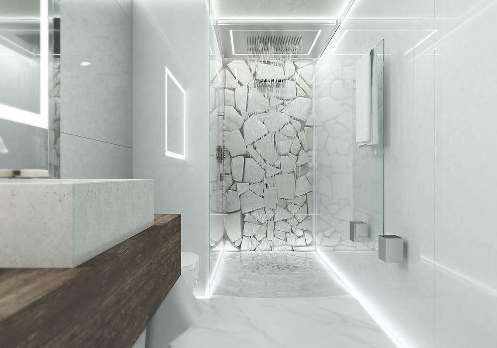 САНУЗЕЛ.1-Й УРОВЕНЬ: Ванные комнаты в . Автор – Aleksey Bereznyak