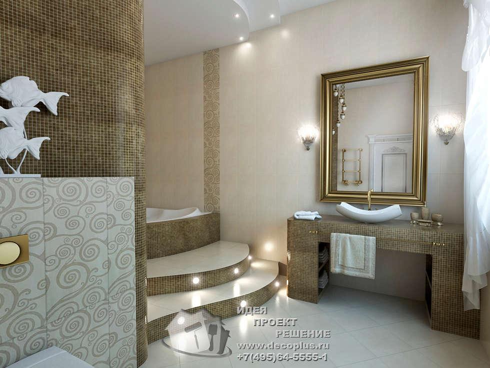 Бронзовые акценты в интерьере ванной: Ванные комнаты в . Автор – Бюро домашних интерьеров