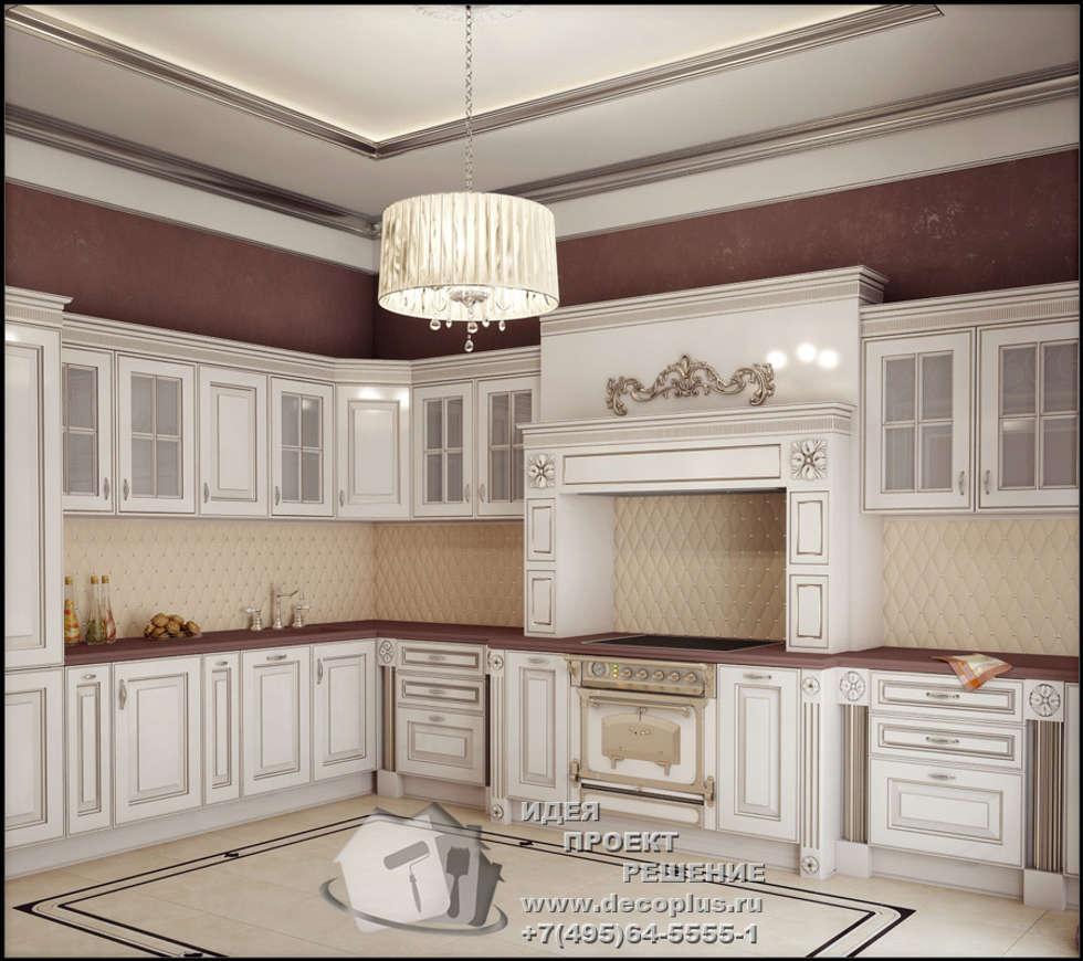 Бежево-коричневая кухня в стиле арт-деко: Кухни в . Автор – Бюро домашних интерьеров