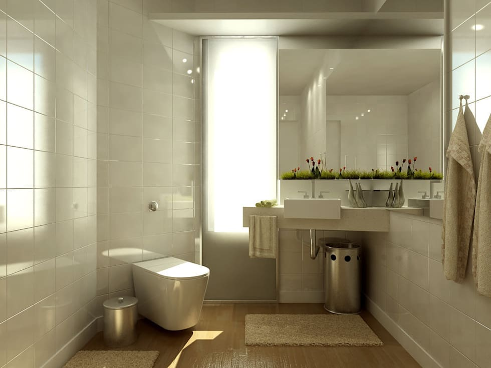 Banyo Tadilatları – Banyo Dekorasyonu : rustik tarz tarz Banyo
